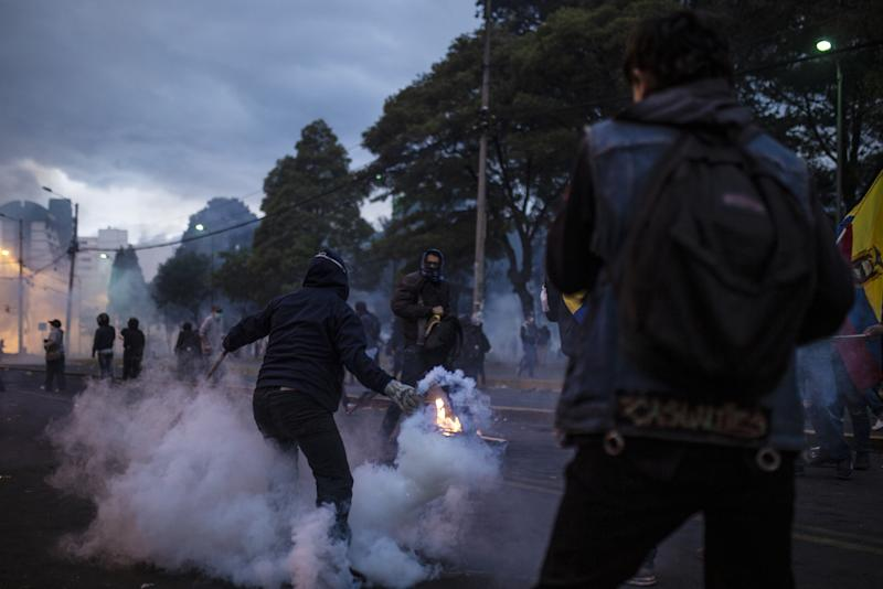 Protesters in Quito Seize Ecuadorian Police, Shouting 'Murderer'