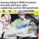 "<p> The news coming out of Italy, in particular, over the past week or so has been incredibly concerning with the death rate from Coronavirus being the highest in the world.</p><p>Neighbouring Germany has since offered to take in patients from Italy as well as France with the country's air force transporting patients to hospitals in the country.</p><p><a href=""https://www.instagram.com/p/B-SDQMTADXf/"" rel=""nofollow noopener"" target=""_blank"" data-ylk=""slk:See the original post on Instagram"" class=""link rapid-noclick-resp"">See the original post on Instagram</a></p>"