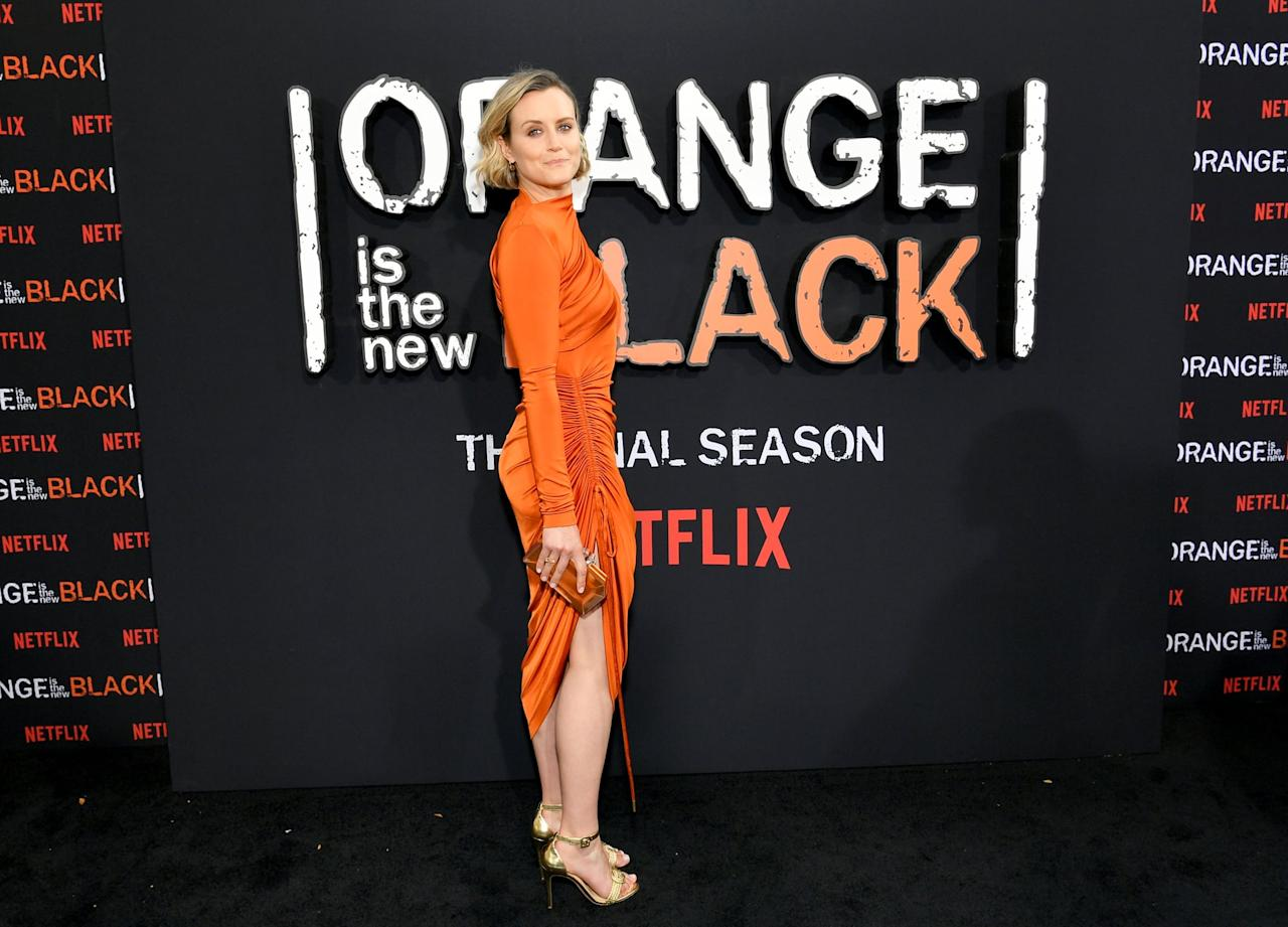Taylor Schilling Was a Vision in Orange at the Premiere of OITNB's Seventh and Final Season