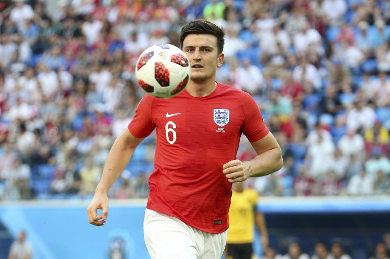 SAINT PETERSBURG, RUSSIA - JULY 14: Harry Maguire of England during the 2018 FIFA World Cup Russia 3rd Place Playoff match between Belgium and England at Saint Petersburg Stadium on July 14, 2018 in Saint Petersburg, Russia. (Photo by Jean Catuffe/Getty Images)