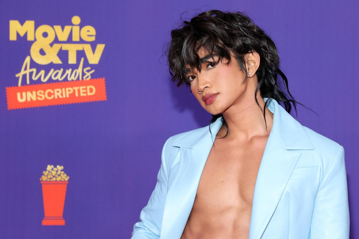 Bretman Rock, seen here at the 2021 MTV Movie & TV Awards: UNSCRIPTED in May, is now one of the faces of Nike's annual Be True collection, for Pride. (Photo: Amy Sussman/Getty Images)