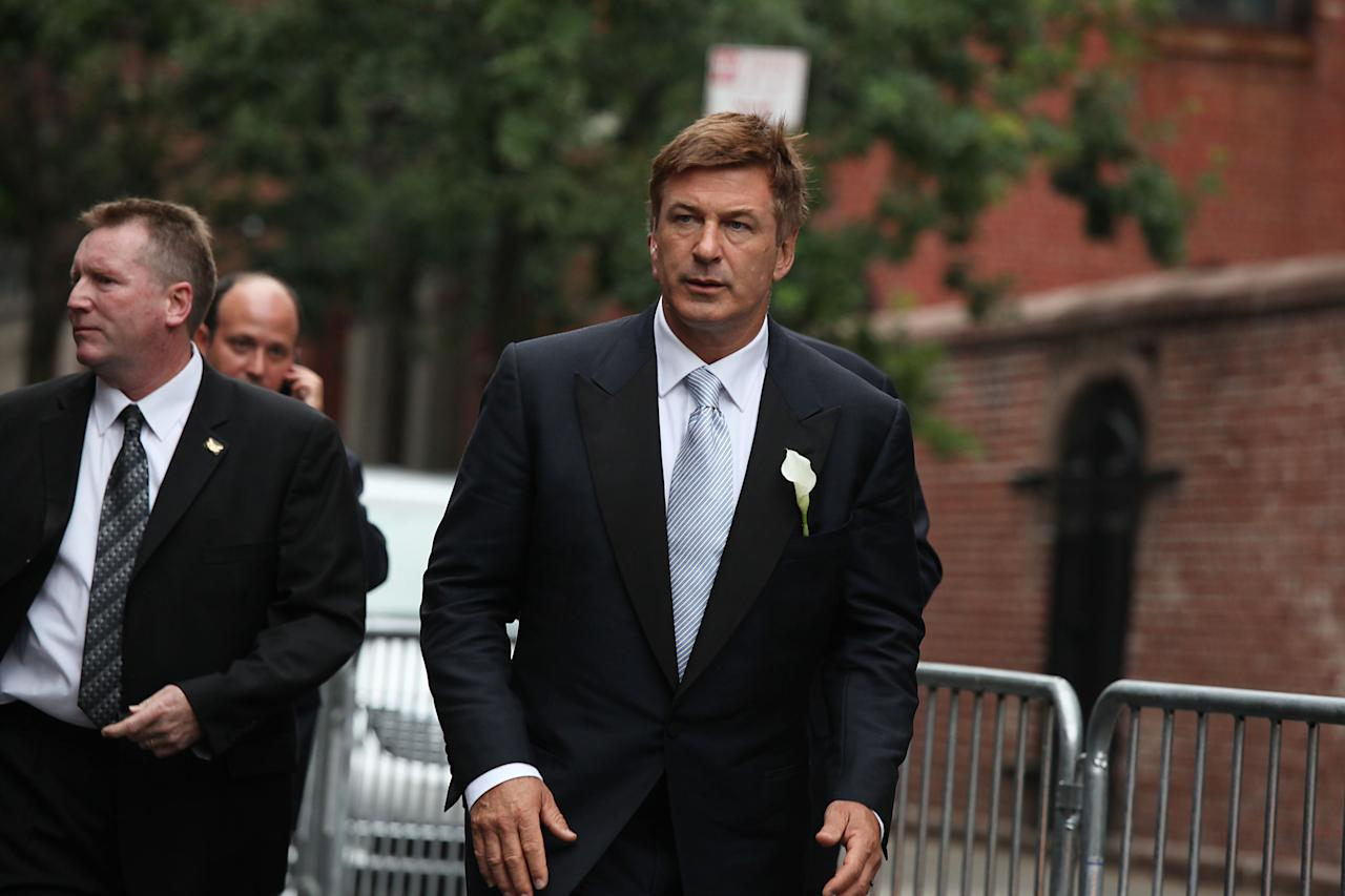 NEW YORK, NY - JUNE 30:  Alec Baldwin attends Alec Baldwin and Hilaria Thomas' wedding ceremony at St. Patrick's Old Cathedral on June 30, 2012 in New York City.  (Photo by Rob Kim/Getty Images)