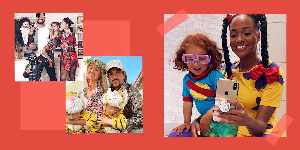 """<p>You and your troupe will be #familygoals with these totally original, perfectly coordinated family Halloween costumes. This year, ditch the solo ideas and break the internet with a viral-worthy costume the whole gang can join in on. From classic pop-culture phenoms to your favorite midnight snacks (you eat tacos at midnight, right?), get the whole family involved in choosing <a href=""""https://www.bestproducts.com/lifestyle/news/g1733/group-halloween-costumes/"""" rel=""""nofollow noopener"""" target=""""_blank"""" data-ylk=""""slk:this year's group costume"""" class=""""link rapid-noclick-resp"""">this year's group costume</a>. The best part of family costumes is that a clan of any size can take part. Whether you are rolling five or more people deep or just hanging as a duo, there is a family costume idea for you.</p><p>No matter if you get creative and DIY them, or just purchase prepackaged costumes, these family Halloween costume ideas are sure to steal the spotlight.</p>"""