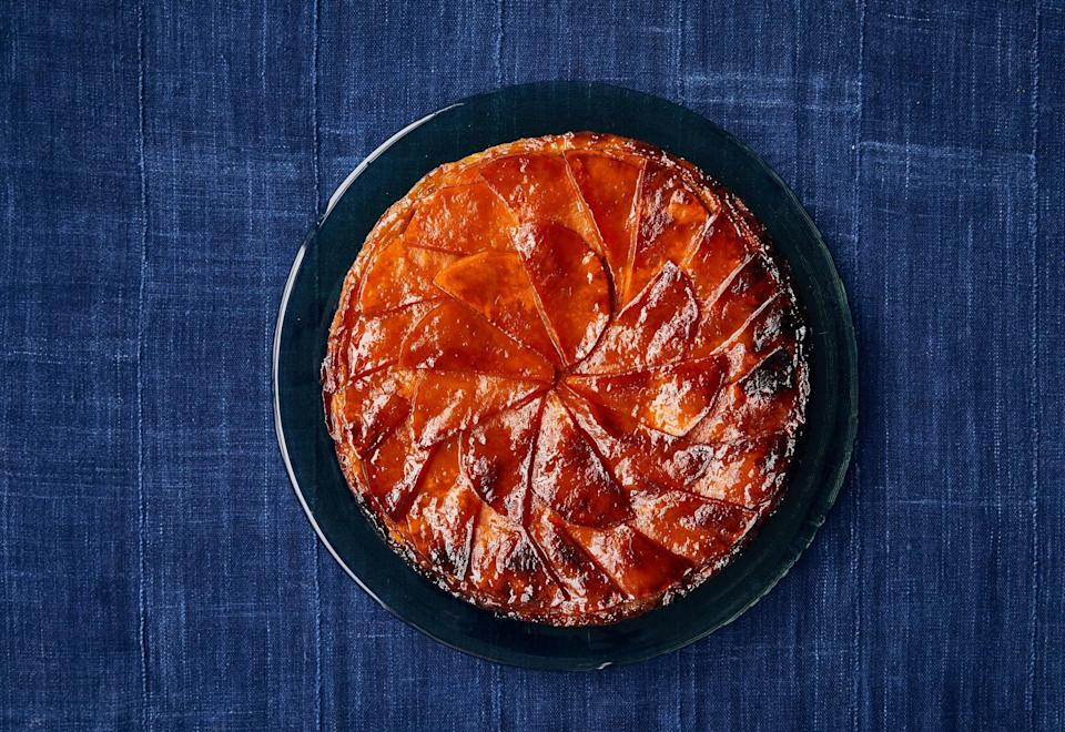 "Hold the apples, sub in squash for a delightfully earthy-sweet tarte tatin. Precooking the squash seasons and softens it, but don't let it get dry or brown. The moisture it retains ensures it will be tender after baking and helps keep the caramel saucy. <a href=""https://www.bonappetit.com/recipe/butternut-squash-tarte-tatin?mbid=synd_yahoo_rss"" rel=""nofollow noopener"" target=""_blank"" data-ylk=""slk:See recipe."" class=""link rapid-noclick-resp"">See recipe.</a>"