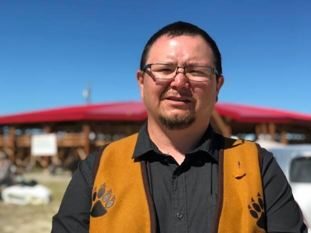 Kenny Cayen was first elected chief of West Point First Nation two years ago. Now, he's taking over the role of grand chief of the Dehcho First Nations. (Anna Desmarais/CBC - image credit)