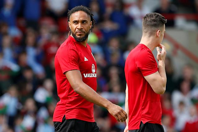 Soccer Football - Wales Training - The Racecourse, Wrexham, Britain - May 21, 2018 Wales' Ashley Williams during training Action Images via Reuters/Craig Brough