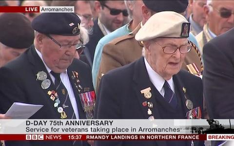 Veterans singing 'Eternal Father Strong to Save' - Credit: BBC