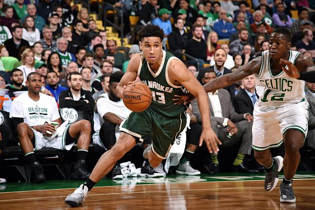 """<a class=""""link rapid-noclick-resp"""" href=""""/nba/players/5667/"""" data-ylk=""""slk:Malcolm Brogdon"""">Malcolm Brogdon</a> said thanks, but no thanks to the idea of a Rookie of the Year promotional campaign. (Getty)"""