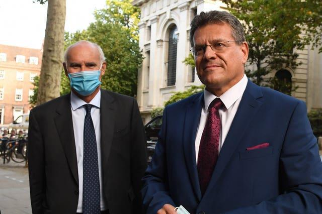 European Commission vice-president Maros Sefcovic (right)