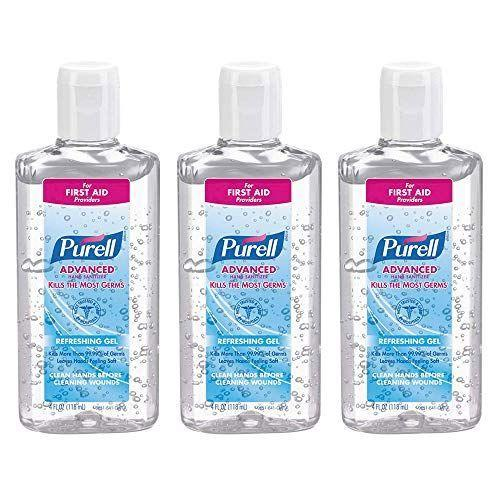 """<p><strong>Purell</strong></p><p>amazon.com</p><p><strong>$20.99</strong></p><p><a href=""""https://www.amazon.com/dp/B07R3GCZ53?tag=syn-yahoo-20&ascsubtag=%5Bartid%7C2140.g.31469255%5Bsrc%7Cyahoo-us"""" rel=""""nofollow noopener"""" target=""""_blank"""" data-ylk=""""slk:Shop Now"""" class=""""link rapid-noclick-resp"""">Shop Now</a></p><p>With 70 percent ethyl alcohol as the active ingredient, Purell has one of the highest alcohol concentrations of any of the recommended hand sanitizers on this list.</p>"""