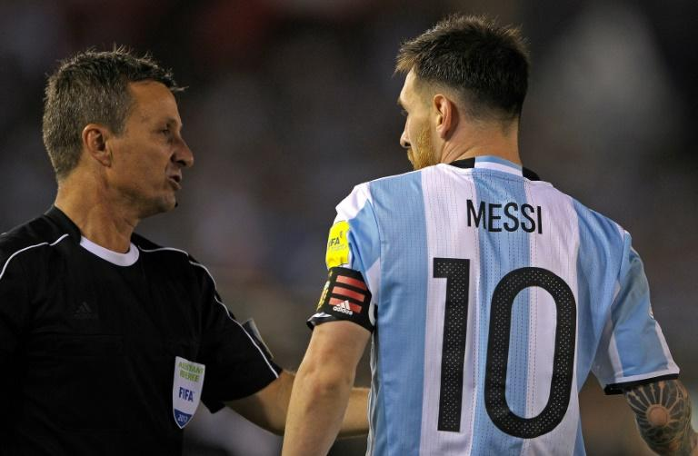 Lionel Messi has been suspended for four of Argentina's five remaining World Cup qualification matches for swearing at an official during a game against Chile in Buenos Aires, on March 23, 2017