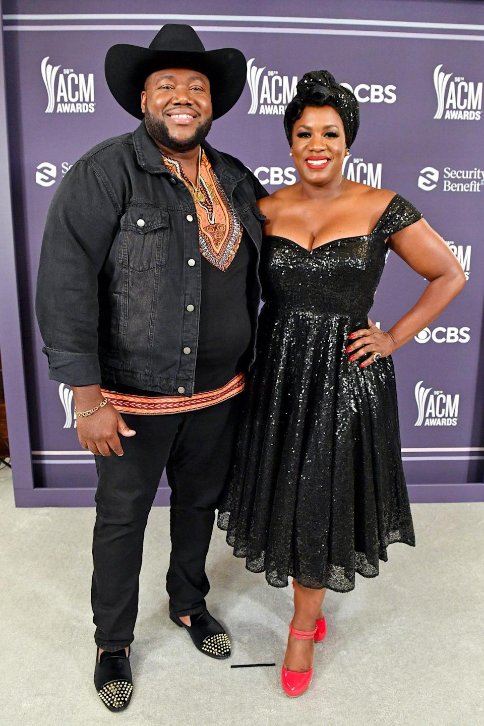 <p>The Nashville-based couple, a.k.a. The War and Treaty, added a little sparkle to the ACM Awards. </p>