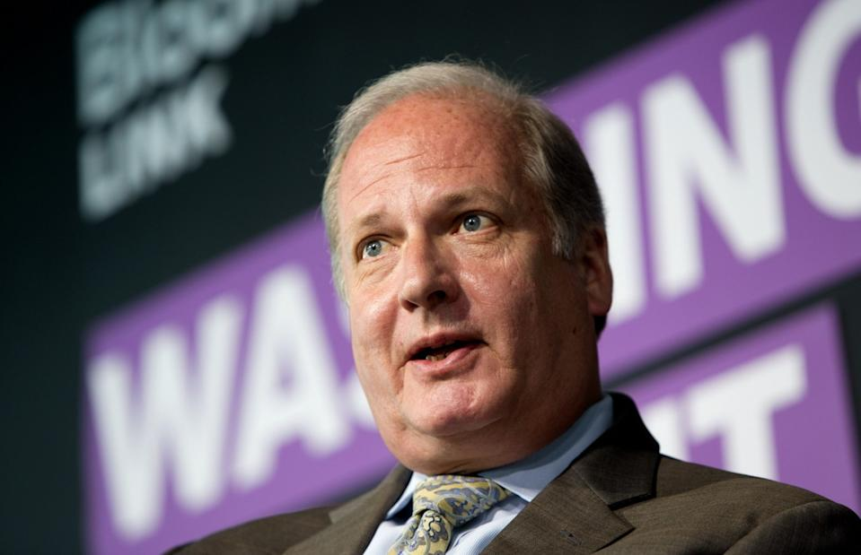 Vin Weber, co-chairman and partner at Mercury and special adviser to the economic policy team for Mitt Romney for President, speaks at the Bloomberg Washington Summit in Washington, D.C., in 2012. (Photo: Joshua Roberts/Bloomberg via Getty Images)