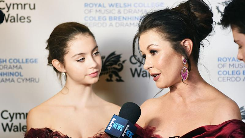 Carys Zeta Douglas and Catherine Zeta-Jones have wowed fans with their uncanny similarity. Photo: Getty Images