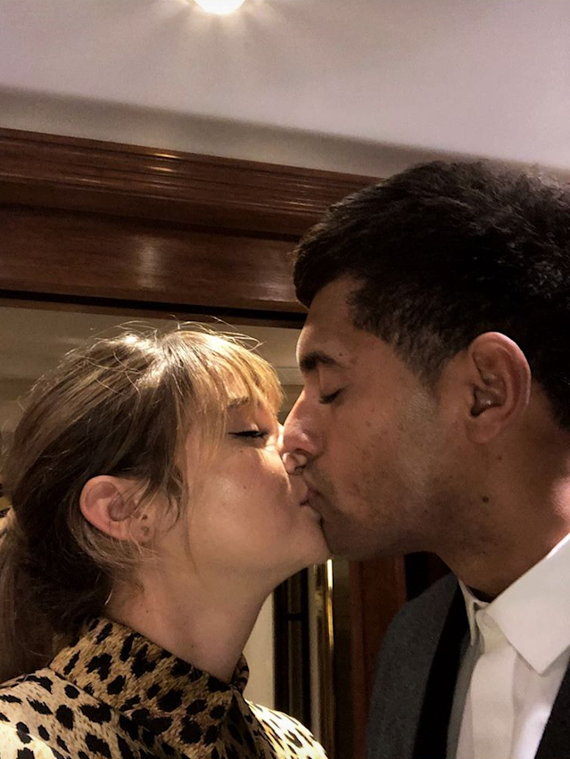 "<p>The <em>Big Little Lies</em> star and her boyfriend, rugby player Ben Volavola, went <a href=""https://www.yahoo.com/lifestyle/shailene-woodley-makes-her-relationship-063046089.html"" data-ylk=""slk:official on the 'Gram;outcm:mb_qualified_link;_E:mb_qualified_link"" class=""link rapid-noclick-resp newsroom-embed-article"">official on the 'Gram</a> Wednesday night when she posted this kissy shot of themselves on her Instagram Stories. The duo, who reportedly hit it off in Fiji, where Woodley was filming <i>Adrift,</i> attended the Valentino Haute Couture spring-summer 2018 show during Paris Fashion Week. (Photo: <a href=""https://www.instagram.com/shailenewoodley/"" rel=""nofollow noopener"" target=""_blank"" data-ylk=""slk:Shailene Woodley via Instagram"" class=""link rapid-noclick-resp"">Shailene Woodley via Instagram</a>) </p>"