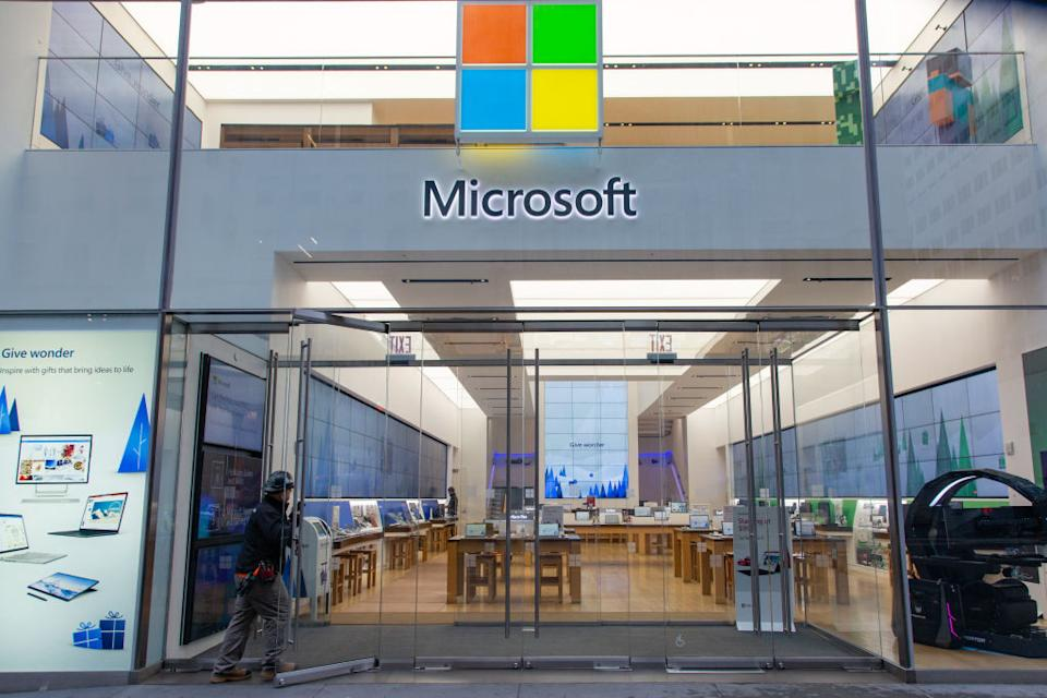 Image of Microsoft store in New York