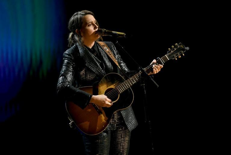 """US singer Brandi Carlile paid tribute to the late John Prine by singing his Grammy-winning song, """"I Remember Everything"""""""