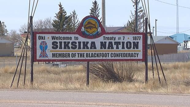 Police say it's believed a fire was deliberately set at a Catholic church on Siksika First Nation land on Monday.  (CBC News - image credit)