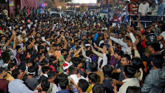 Violence was seen in Ahmedabad on Tuesday as protestors opposed to the release of Padmaavat targetted cinema halls in the city.