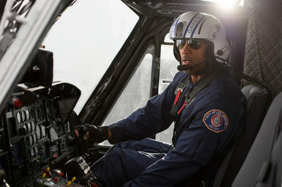 <p>As if saving the world from total devastation just the once was ever going to be enough for Johnson. He's poised to reprise his role as rescue helicopter pilot Raymond Gaines in a follow-up to the 2015 disaster movie, although no release date has been announced just yet. (Picture credit: New Line Cinema) </p>