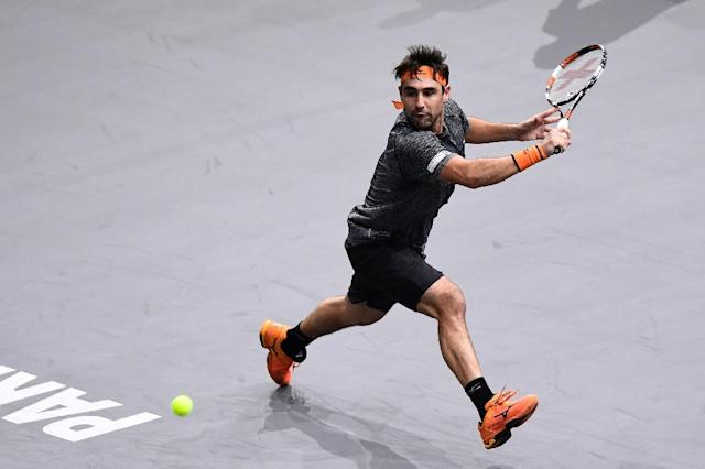Cyprus' Marcos Baghdatis, picutred in October 2016, last loss the Davis Cup in 2003 against Irakli Labadze of Georgia (AFP Photo/MIGUEL MEDINA)