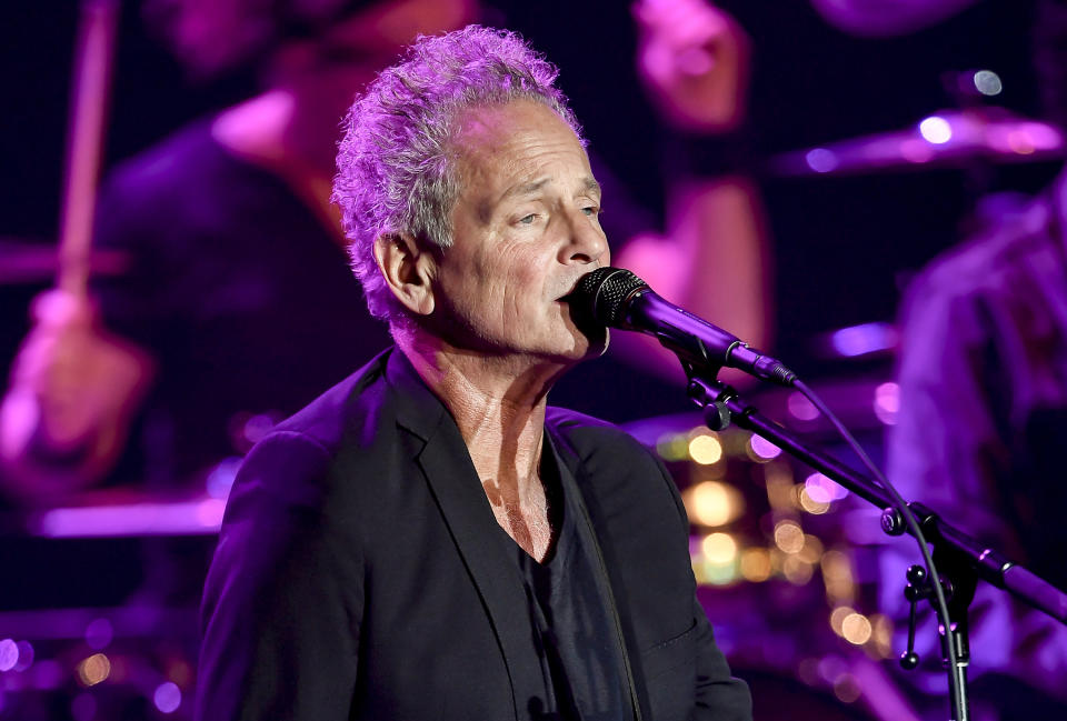 Former Fleetwood Mac guitarist Lindsey Buckingham says it's possible that his ex-girlfriend and former bandmate Stevie Nicks still has romantic feelings for him. (Photo: Steve Jennings/Getty Images)