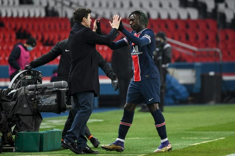 Moise Kean put PSG ahead against Brest as Mauricio Pochettino claimed his first win in charge of the French champions
