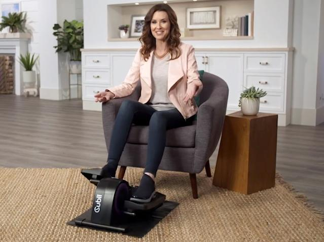 Get a work out, while you sit at your desk with the Cubii, Jr. (Photo: Cubii)