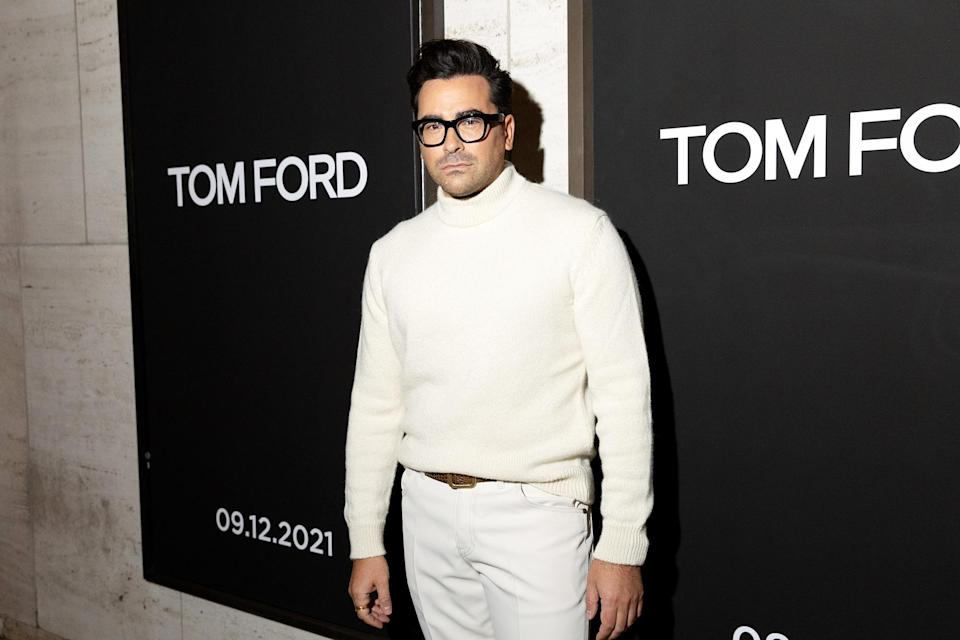 <p>Dan Levy attends the Tom Ford Spring/Summer 2022 Runway Show at the David H. Koch Theater in N.Y.C. on Sept. 12.</p>