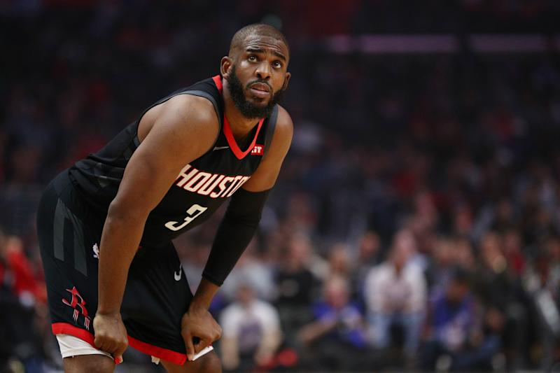 Was Chris Paul waiting to find out if he'd remain in Oklahoma City to address his trade to the Thunder? (Getty)