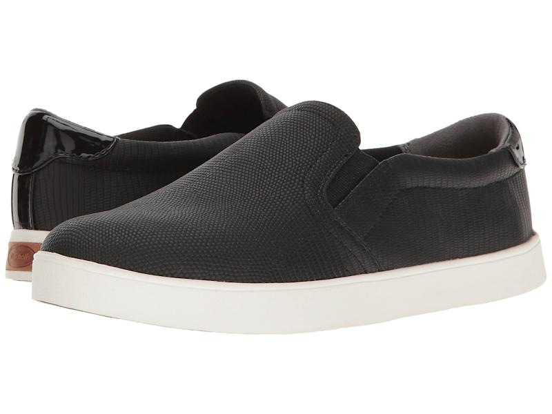 Dr. Scholl's Madison Sneakers in Black Lizard. (Photo: Zappos)