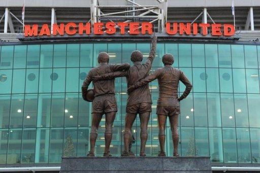 View of Old Trafford stadium in Manchester