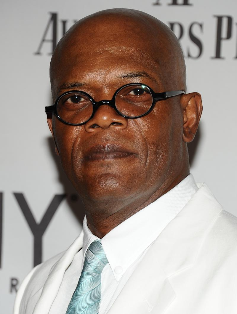 Samuel L. Jackson arrives at the 65th annual Tony Awards, Sunday, June 12, 2011  in New York.  (AP Photo/Charles Sykes)