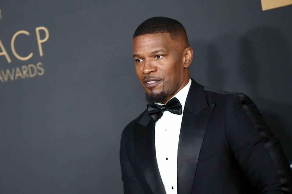 PASADENA, CALIFORNIA - FEBRUARY 22: Jamie Foxx attends the 51st NAACP Image Awards, Presented by BET, at Pasadena Civic Auditorium on February 22, 2020 in Pasadena, California. (Photo by Tommaso Boddi/FilmMagic)