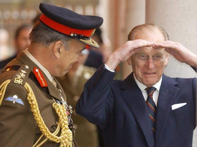 Philip and General Sir Mike Jackson
