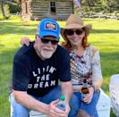 """<p>If Linn's shirt is any indication, he's """"Livin' the Dream!"""" McEntire posted a sweet photo of the pair in Montana with the <a href=""""https://www.instagram.com/p/CGiZgwnFmZA/"""" rel=""""nofollow noopener"""" target=""""_blank"""" data-ylk=""""slk:caption"""" class=""""link rapid-noclick-resp"""">caption</a>, """"Fun in MT with my Sugar Tot!!!""""</p> <p>Linn <a href=""""https://www.instagram.com/p/CGiL_t8BmbU/"""" rel=""""nofollow noopener"""" target=""""_blank"""" data-ylk=""""slk:captioned the same photo on his Instagram"""" class=""""link rapid-noclick-resp"""">captioned the same photo on his Instagram</a>, """"❤️❤️TATER TOT,"""" and called McEntire an """"angel on the ground (and on a cooler). """"</p>"""