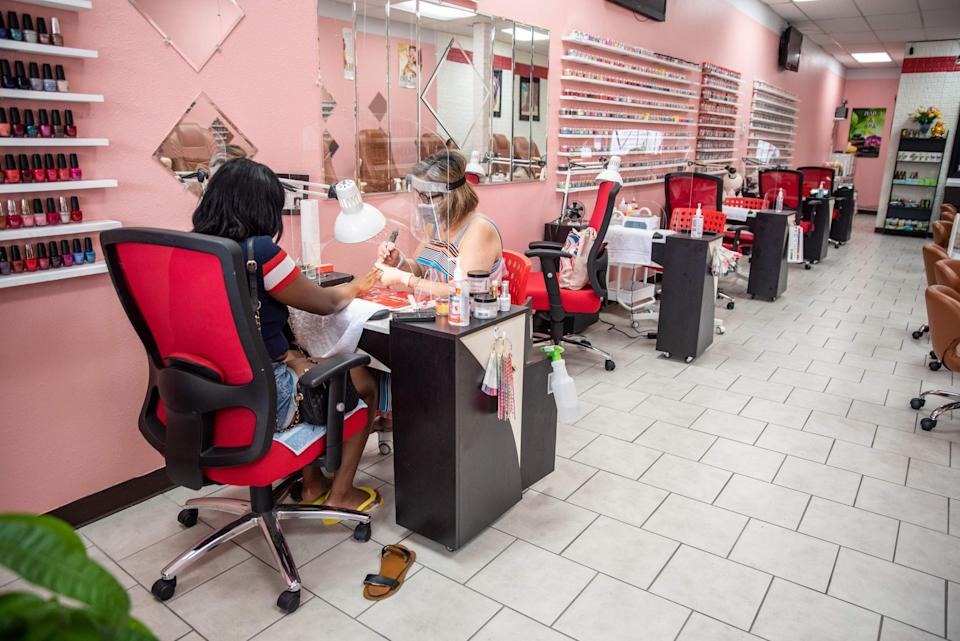 In Texas, US, nail bars started slowly reopening in May (AFP via Getty Images)