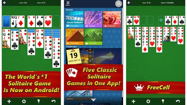 microsoft solitaire ios android microsoftsolitaire