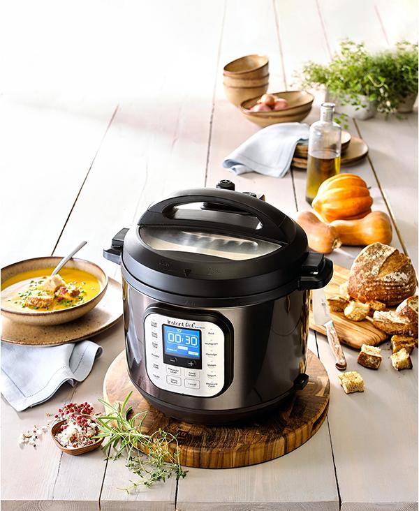 Instant Pot Duo Nova Black Stainless Steel 6-Qt. 7-in-1 One-Touch Multi-Cooker (Photo: Macy's)