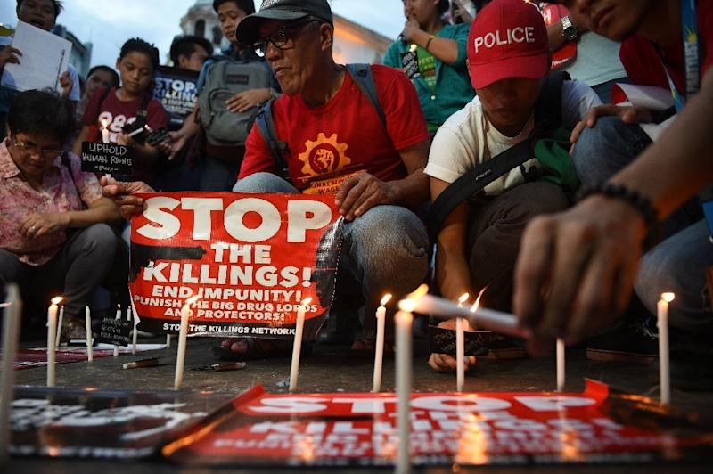 Philippines President Rodrigo Duterte has been repeatedly accused of running death squads during his two decades as Davao mayor and expanding on those tactics in a national war on drugs (AFP Photo/TED ALJIBE)