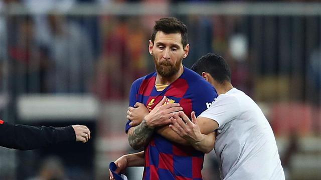 Questions will likely be asked of security at the King Abdullah Sports City stadium after a pitch invader was able to reach Lionel Messi.