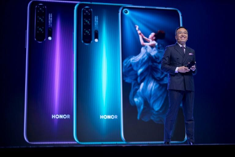 Honor phones, seen here at a launch in London in 2019, are aimed primarily at younger or more budget-conscious buyers