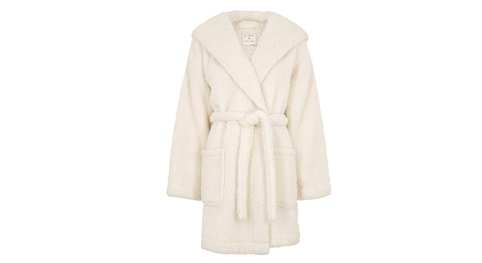 Fleece Hooded Short Dressing Gown