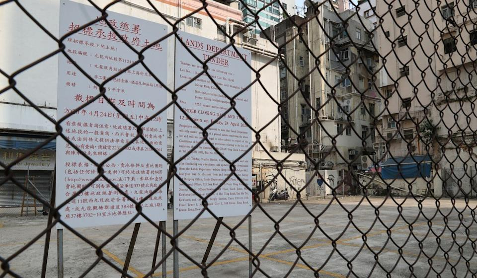 The tender for a plot in Soy Street, Mong Kok, has drawn 27 bids. Photo: Edmond So