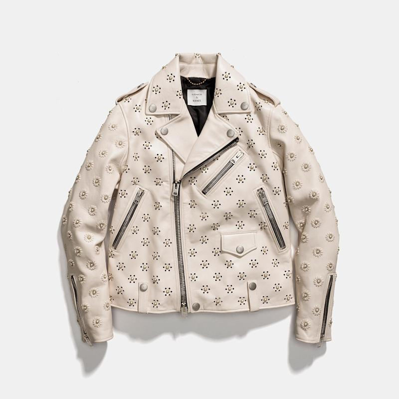 Coach Moto Jacket With Whipstich Eyelet Coach Countdown Package For Sale Cheap Sale Best Prices Quality Outlet Store Choice Online Free Shipping Excellent G5pH4