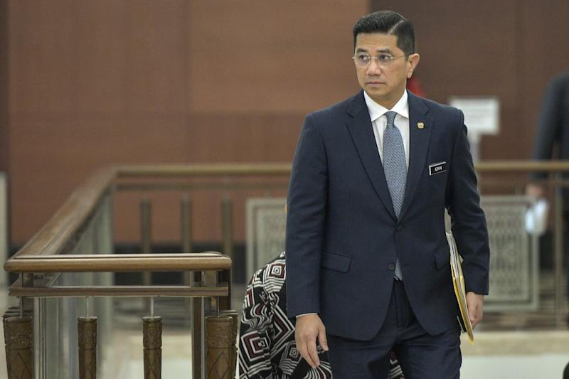 Economic Affairs Minister Datuk Seri Azmin Ali arrives at Parliament November 7, 2019. — Picture by Shafwan Zaidon