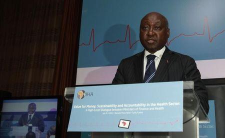 "File photo of the President of the African Development Bank (AFDB) Donald Kaberuka speaks during the opening of the conference ""Value for Money, Sustainability and Accountability in the Health Sector"" in Tunis July 4, 2012. REUTERS/Zoubeir Souissi"