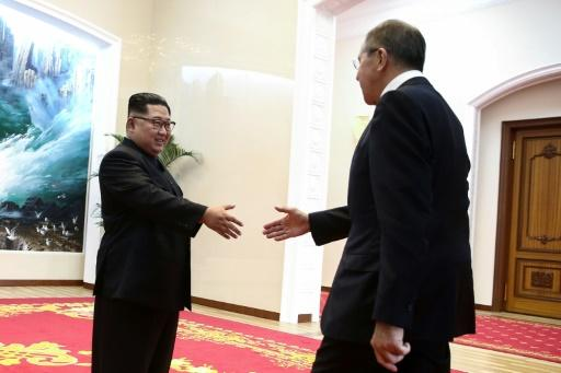 Foreign Minister Sergei Lavrov in Pyongyang invited North Korean leader Kim Jong Un to visit Russia, during the first meeting between the head of the reclusive state and a Russian official