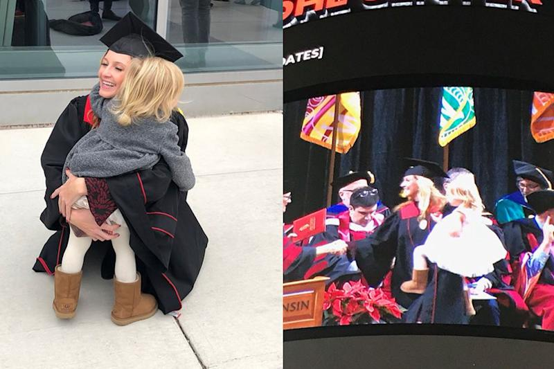 Single Mother Graduates College With Young Daughter