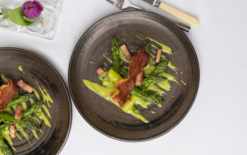 Asparagus with bacon - Credit: Andrew Crowley